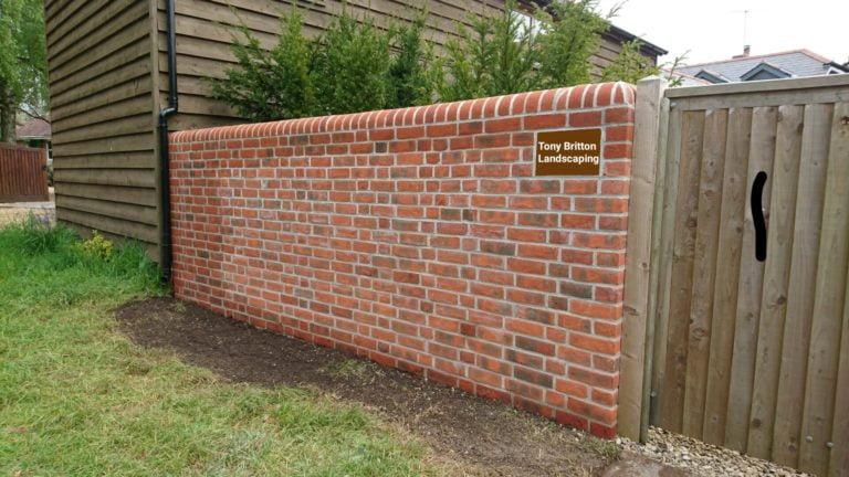 brick wall tony britton Landscaping